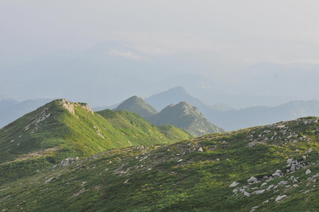 飯豊山から北にのびる、ダイクラ尾根です